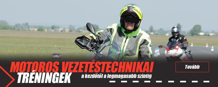 Motoros vezetéstechnikai tréningek